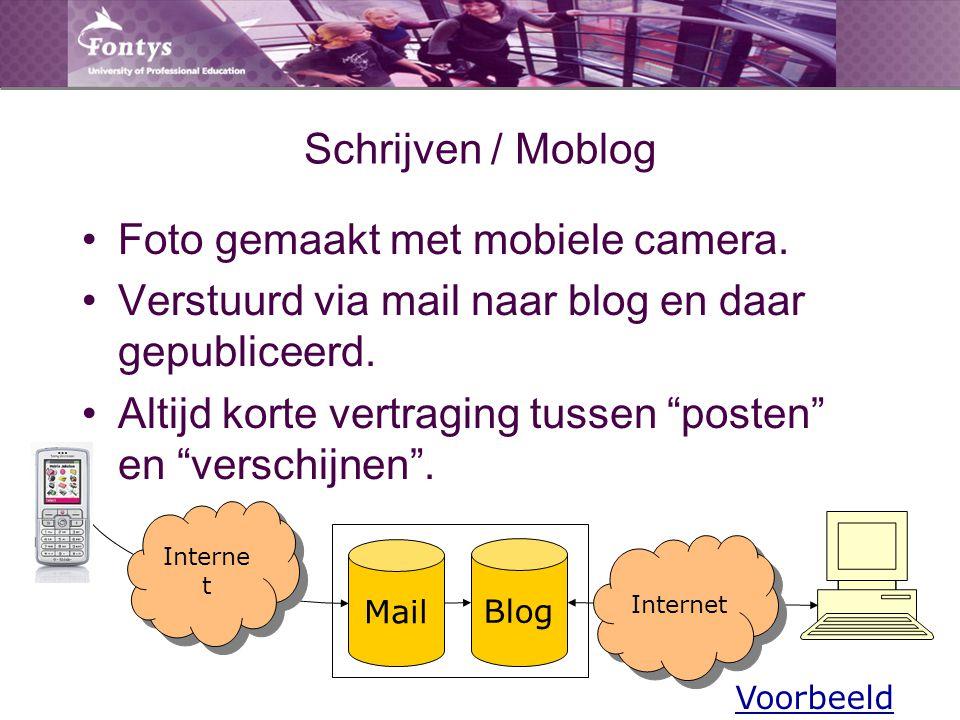 """Schrijven / Moblog Foto gemaakt met mobiele camera. Verstuurd via mail naar blog en daar gepubliceerd. Altijd korte vertraging tussen """"posten"""" en """"ver"""