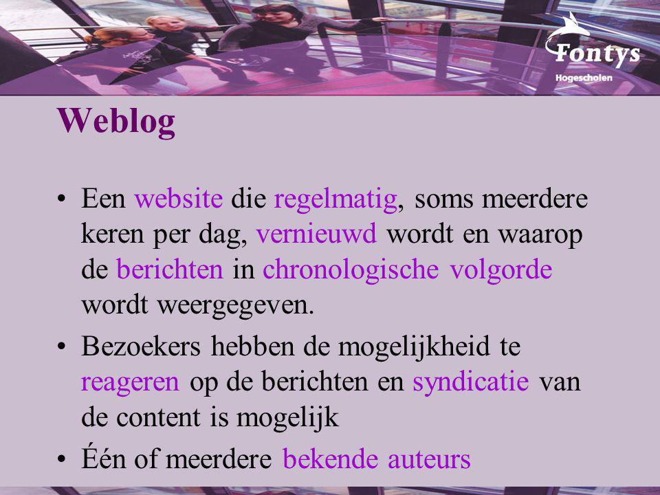 Weblog Demo… ICT en Onderwijs BLOG