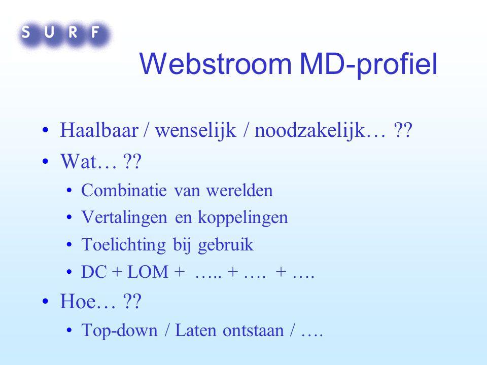 Webstroom MD-profiel Haalbaar / wenselijk / noodzakelijk… .