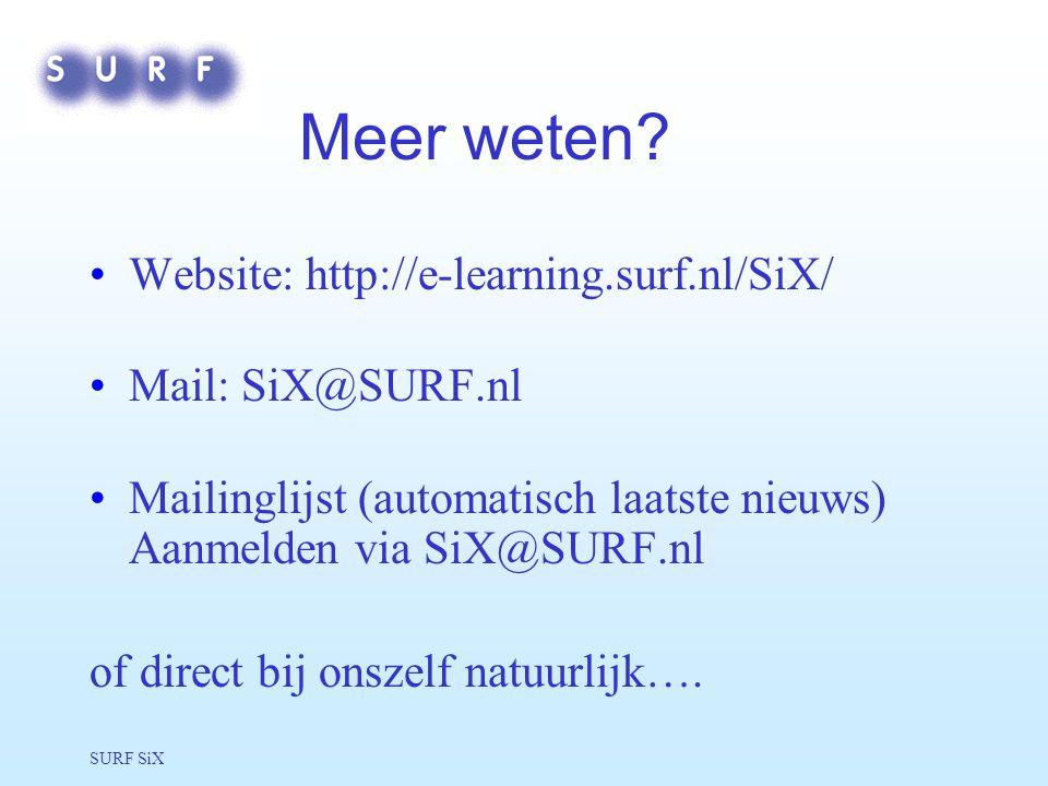 SURF SiX Meer weten.