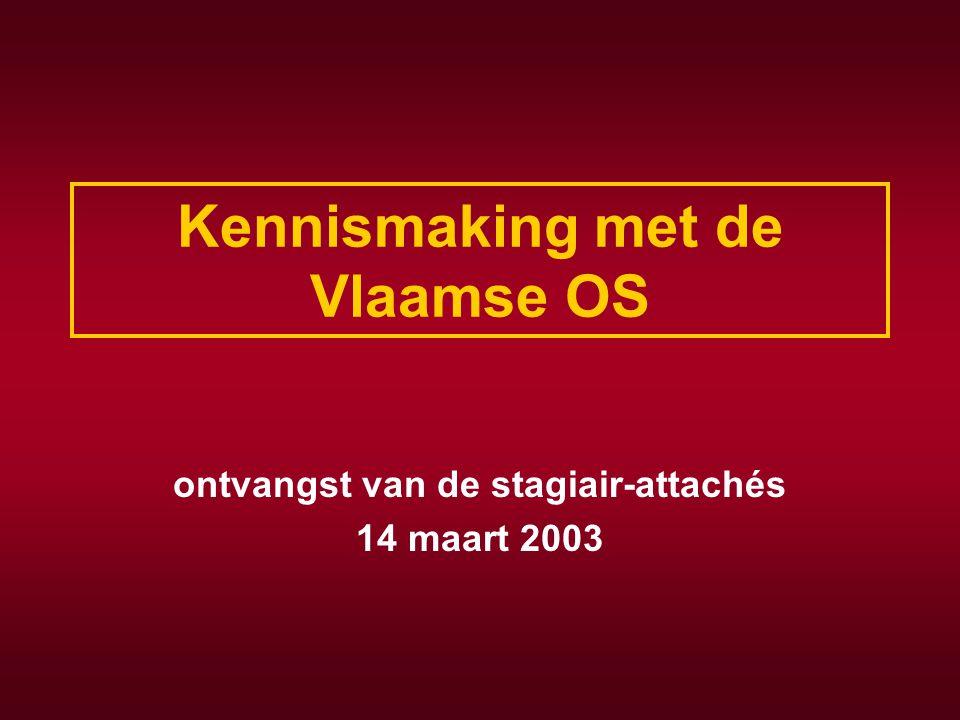 Kennismaking met de Vlaamse OS ontvangst van de stagiair-attachés 14 maart 2003