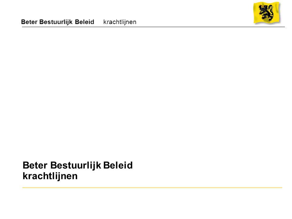 Organogram van het ministerie BBIS (goedgekeurd door de Vlaamse regering op 7/12/01) IVA INTERNATIONALE HANDEL (Flanders Investment & Trade) IVA INTERNATIONALE SAMENWERKING (*) Minister Strategische adviesraad DEPARTEMENT BUITENLANDS BELEID & INTERNATIONALE SAMENWERKING Veranderingstraject Buitenlands Beleid & Internationale Samenwerking (*) wordt opgericht na goedkeuring van de wet defederalisering ontwikkelingssamenwerking Managementondersteunende Dienst Contactgroep Internationale Handel Overlegraad Internationale Samenwerking Beleidsraad