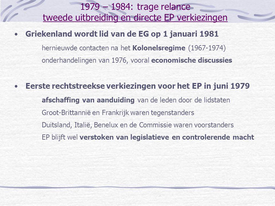 1990 – 1997: uitbouw van de Europese Unie het Verdrag van Amsterdam besluitvorming kleine uitbreiding van het gebruik van gekwalificeerde meerderheid Geen overeenkomst over de herweging van de stemmen in de Raad en de samenstelling van de Europese Commissie Europees Parlement: meer gebruik van de medebeslissingsprocedure vrij verkeer van personen incorporatie van Schengen in het Verdrag, met opt-outs voor Groot-Brittannïe en Ierland migratie en asiel naar de eerste pijler, met uitstel en beperkingen toekomstige oprichting van de 'Ruimte van Vrijheid, Veiligheid en Rechtvaardigheid Incorporatie van het Sociaal Protocol in het Verdrag Werkgelegenheid: introductie van de richtsnoeren