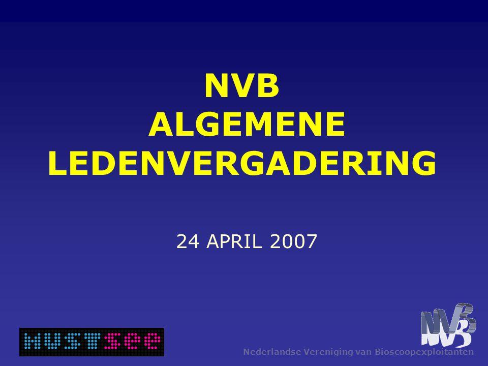 Nederlandse Vereniging van Bioscoopexploitanten NVB ALGEMENE LEDENVERGADERING 24 APRIL 2007