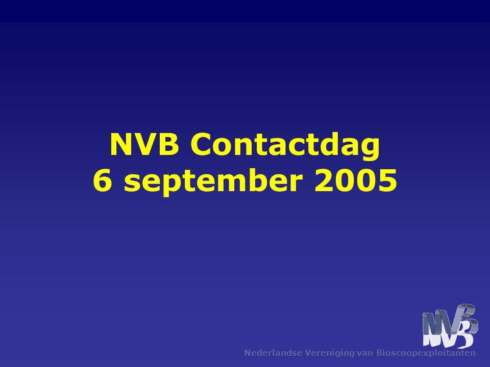 Nederlandse Vereniging van Bioscoopexploitanten NVB Contactdag 6 september 2005