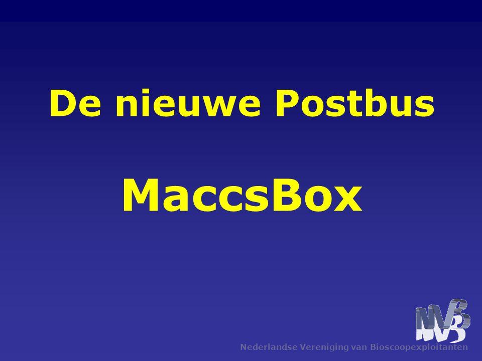 Nederlandse Vereniging van Bioscoopexploitanten De nieuwe Postbus MaccsBox