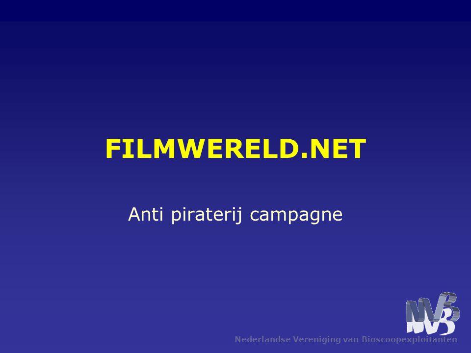 Nederlandse Vereniging van Bioscoopexploitanten FILMWERELD.NET Anti piraterij campagne