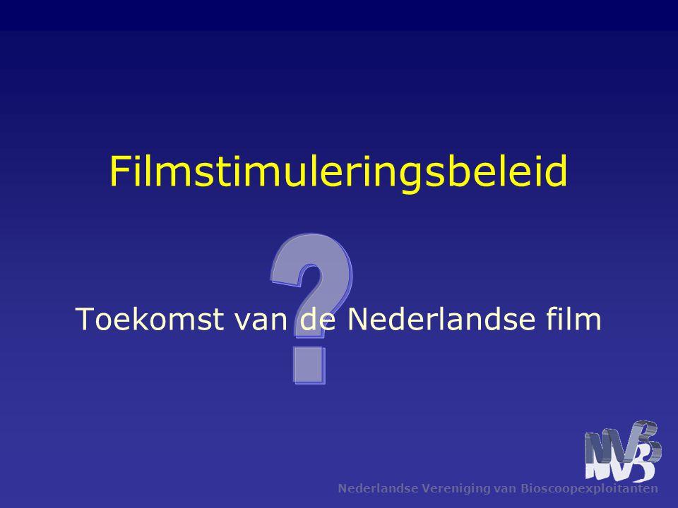 Nederlandse Vereniging van Bioscoopexploitanten Filmstimuleringsbeleid Toekomst van de Nederlandse film