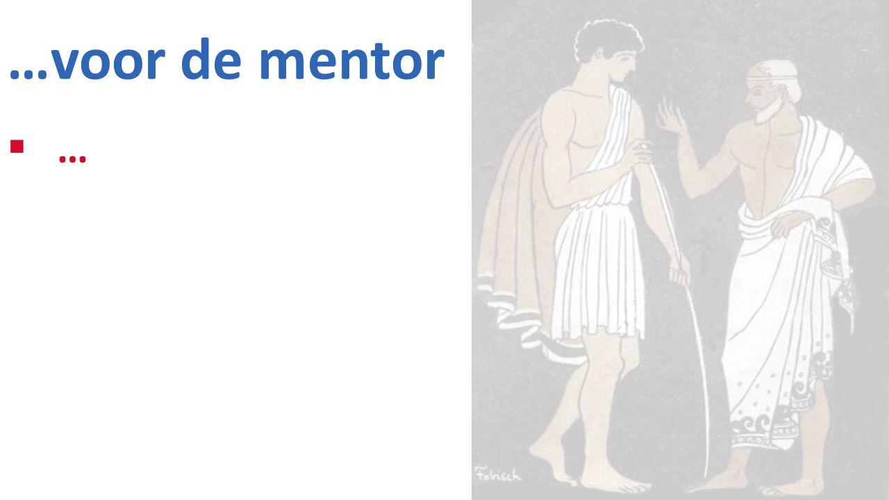 …voor de mentor ……