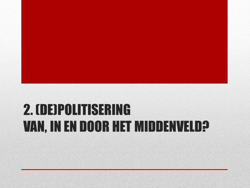 2. (DE)POLITISERING VAN, IN EN DOOR HET MIDDENVELD