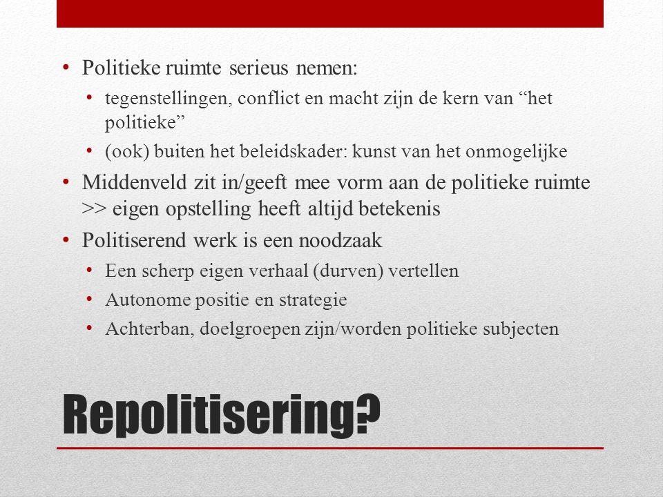 Repolitisering.