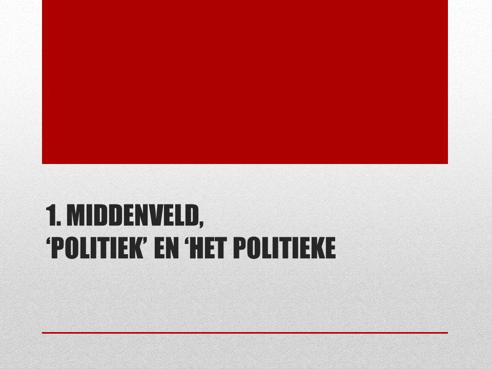 1. MIDDENVELD, 'POLITIEK' EN 'HET POLITIEKE