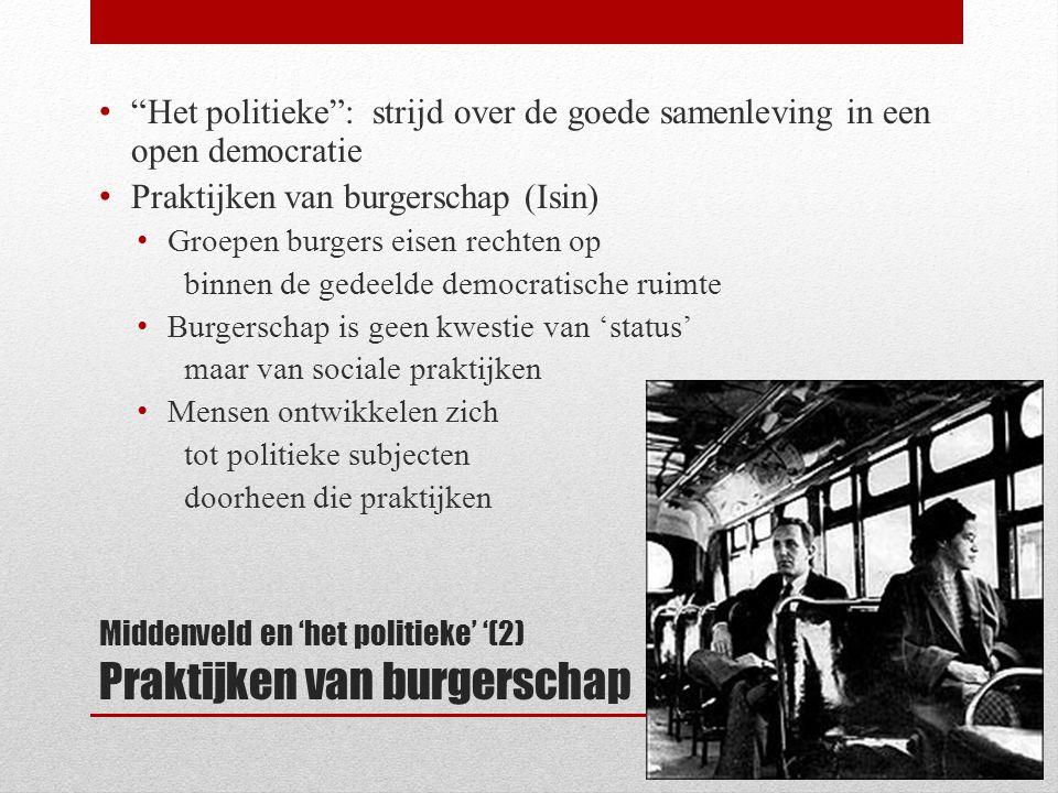 (3) Depolitisering naar onder toe: 'doelgroepen' (B)