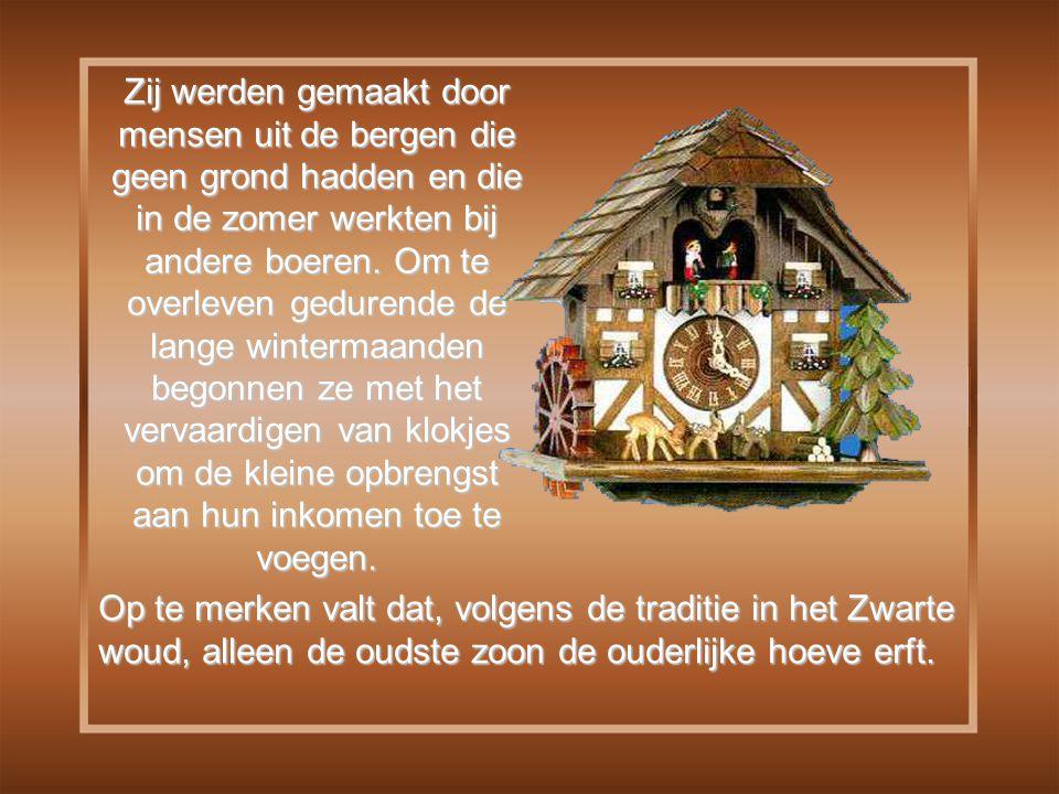 Amper 12 jaar na de fabrikage van het eerste klokje, in 1808, telde het dorpje Schönval en de omliggende dorpen een belangrijk broederschap van 680 koekoeksklokken sculpteurs !