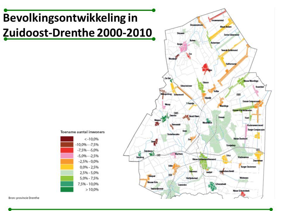 Bevolkingsontwikkeling in Zuidoost-Drenthe 2000-2010
