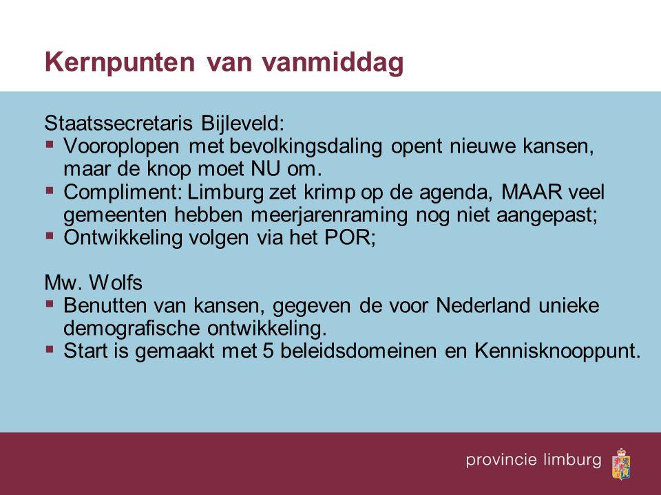 Kernpunten Rfv/ROB dhr.Bolhuis  Krimp is nieuwe realiteit voor veel gemeenten.