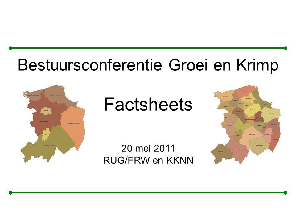Factsheets Bestuursconferentie Groei en Krimp 20 mei 2011 RUG/FRW en KKNN