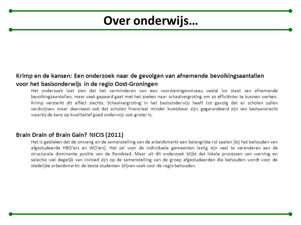 Over onderwijs… Krimp en de kansen: Een onderzoek naar de gevolgen van afnemende bevolkingsaantallen voor het basisonderwijs in de regio Oost-Groninge