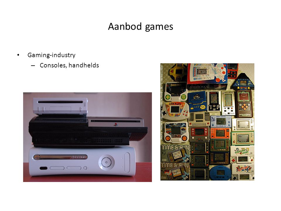 Aanbod games Gaming-industry – Consoles, handhelds