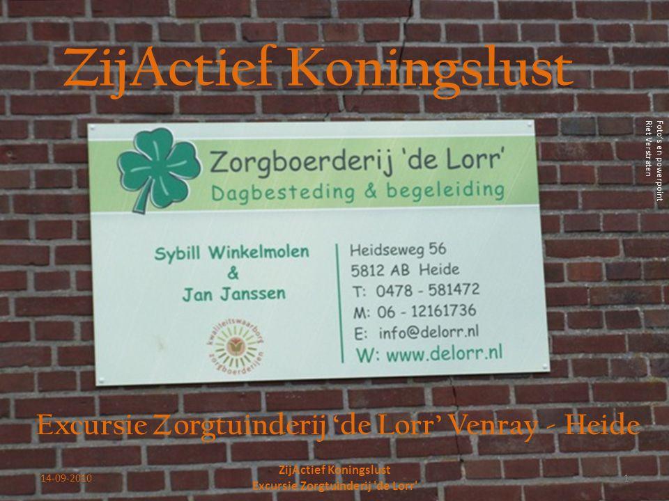 14-09-20101 ZijActief Koningslust Excursie Zorgtuinderij 'de Lorr' ZijActief Koningslust Excursie Zorgtuinderij 'de Lorr' Venray - Heide Foto's en pow