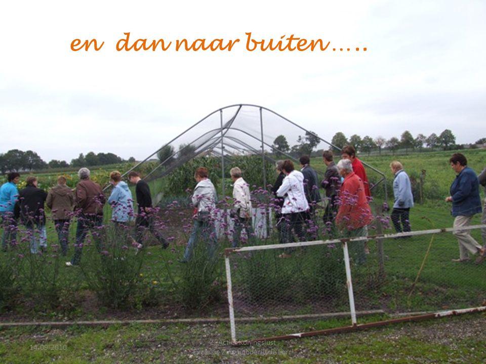 14-09-201012 ZijActief Koningslust Excursie Zorgtuinderij 'de Lorr' en dan naar buiten …..