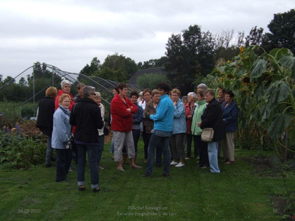 14-09-201016 ZijActief Koningslust Excursie Zorgtuinderij 'de Lorr'