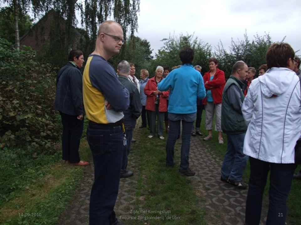 14-09-201021 ZijActief Koningslust Excursie Zorgtuinderij 'de Lorr'