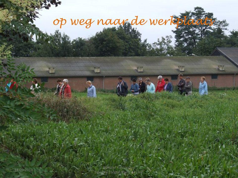 14-09-201022 ZijActief Koningslust Excursie Zorgtuinderij 'de Lorr' op weg naar de werkplaats