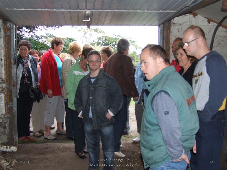14-09-201024 ZijActief Koningslust Excursie Zorgtuinderij 'de Lorr'