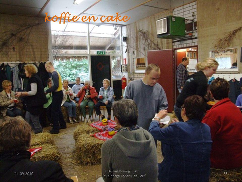 14-09-201035 ZijActief Koningslust Excursie Zorgtuinderij 'de Lorr' koffie en cake