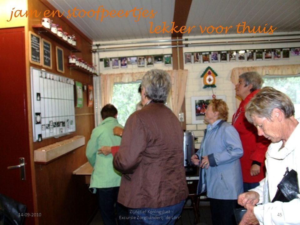 14-09-201045 ZijActief Koningslust Excursie Zorgtuinderij 'de Lorr' jam en stoofpeertjes lekker voor thuis