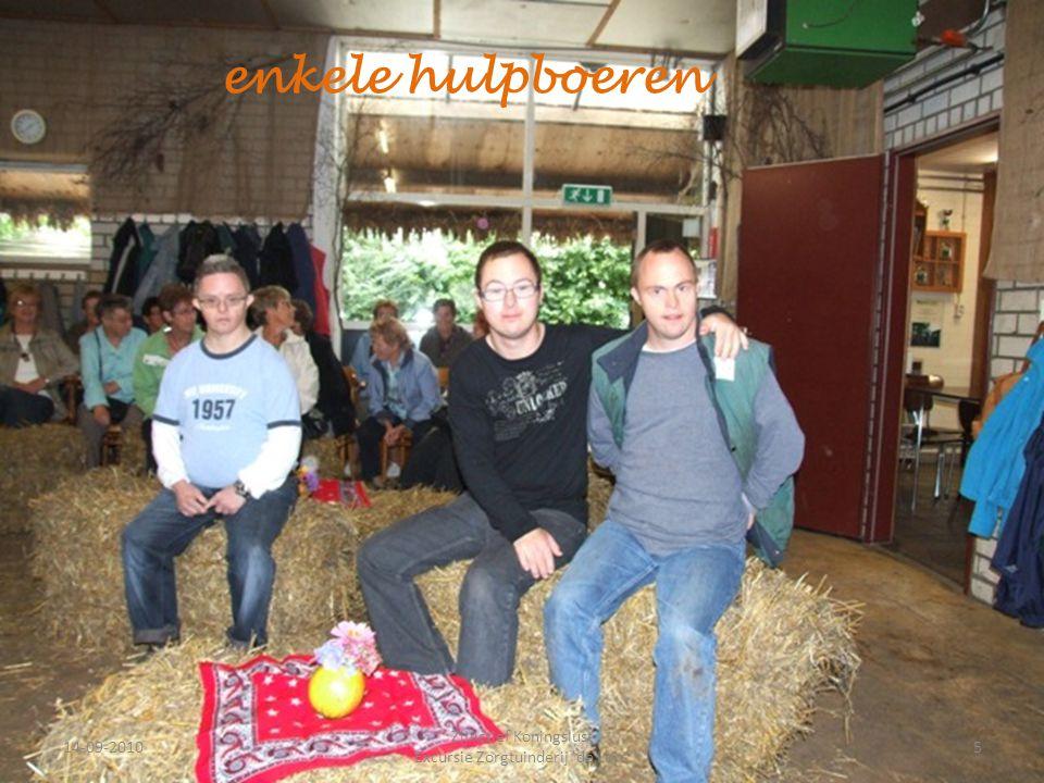 14-09-20105 ZijActief Koningslust Excursie Zorgtuinderij 'de Lorr' enkele hulpboeren