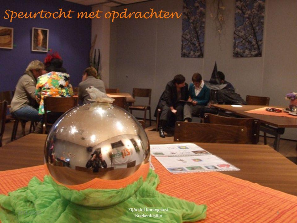 Speurtocht met opdrachten 2011-03-225 ZijActief Koningslust Boekenfestijn
