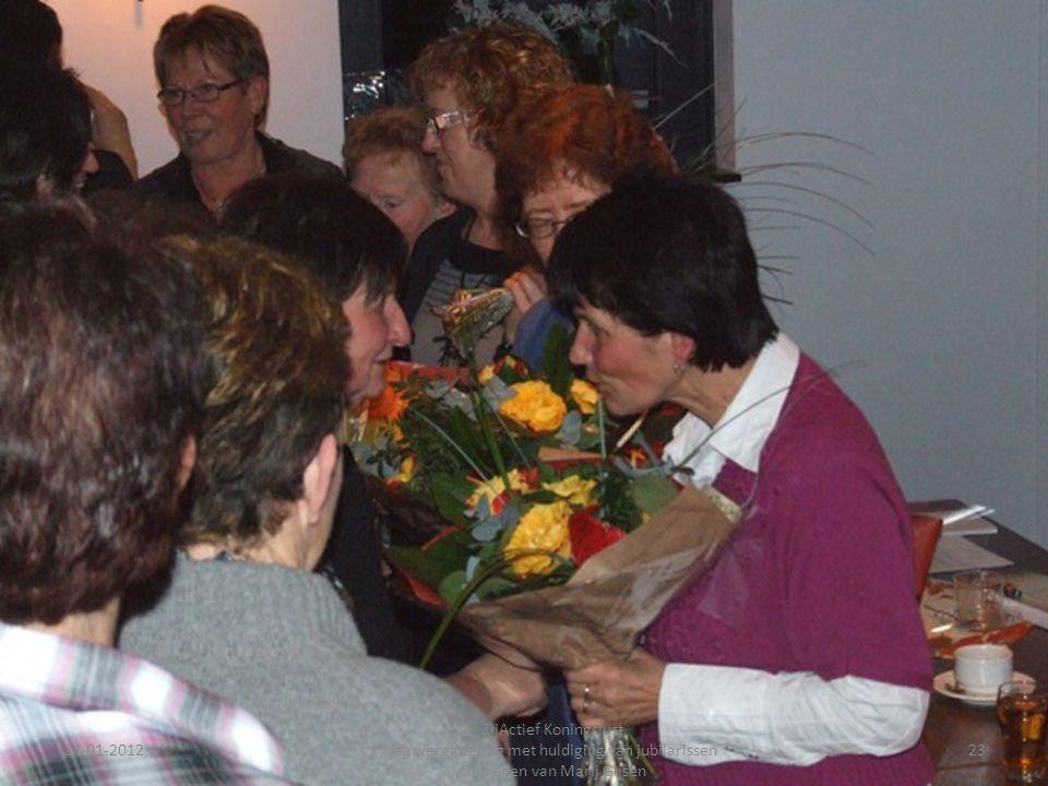 24-01-201223 ZijActief Koningslust Jaarvergadering met huldiging van jubilarissen Optreden van Marij Gijsen