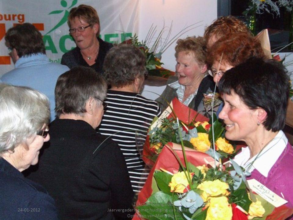 24-01-201231 ZijActief Koningslust Jaarvergadering met huldiging van jubilarissen Optreden van Marij Gijsen