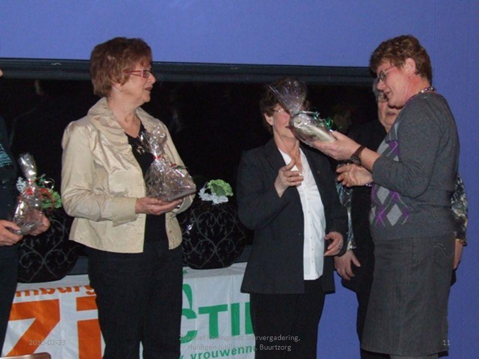 2010-02-2311 Zijactief Koningslust Jaarvergadering, Huldigen Jubilarissen, Buurtzorg