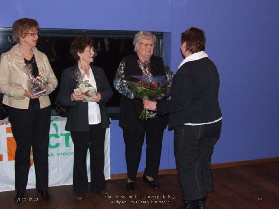2010-02-2314 Zijactief Koningslust Jaarvergadering, Huldigen Jubilarissen, Buurtzorg