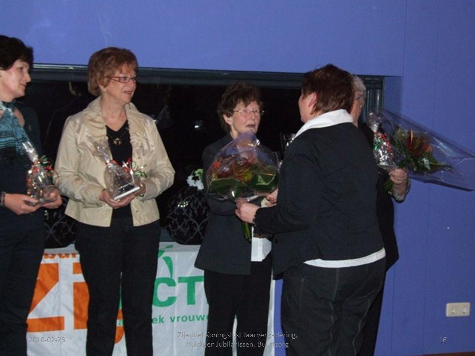 2010-02-2316 Zijactief Koningslust Jaarvergadering, Huldigen Jubilarissen, Buurtzorg