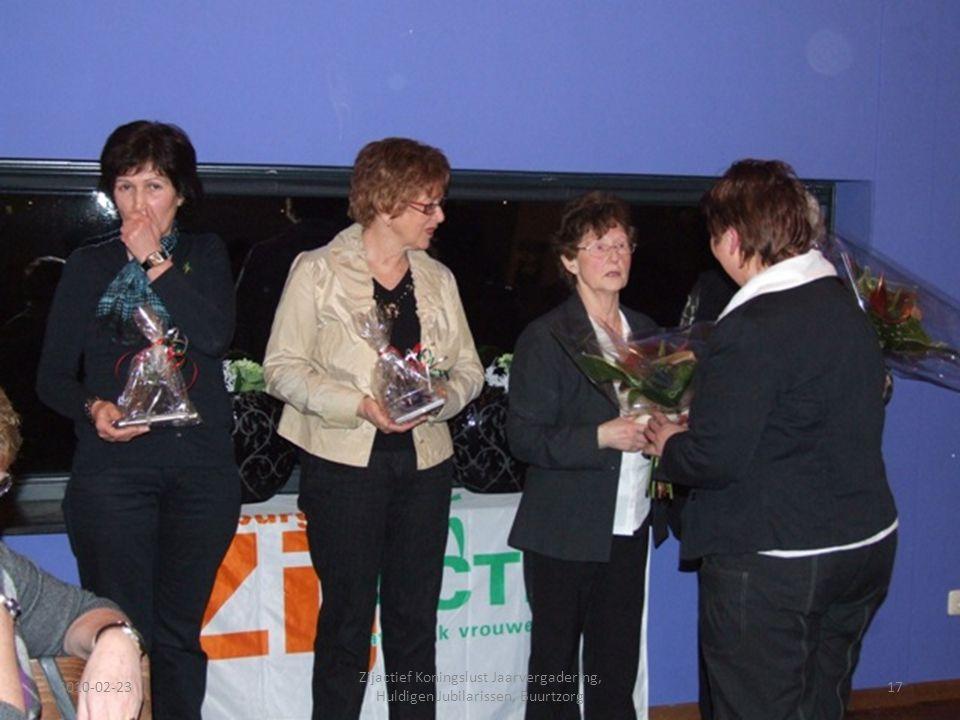 2010-02-2317 Zijactief Koningslust Jaarvergadering, Huldigen Jubilarissen, Buurtzorg