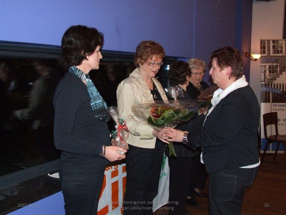 2010-02-2320 Zijactief Koningslust Jaarvergadering, Huldigen Jubilarissen, Buurtzorg