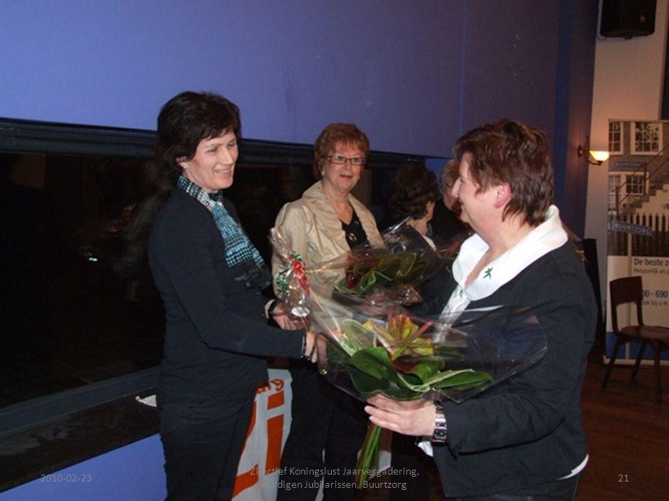 2010-02-2321 Zijactief Koningslust Jaarvergadering, Huldigen Jubilarissen, Buurtzorg