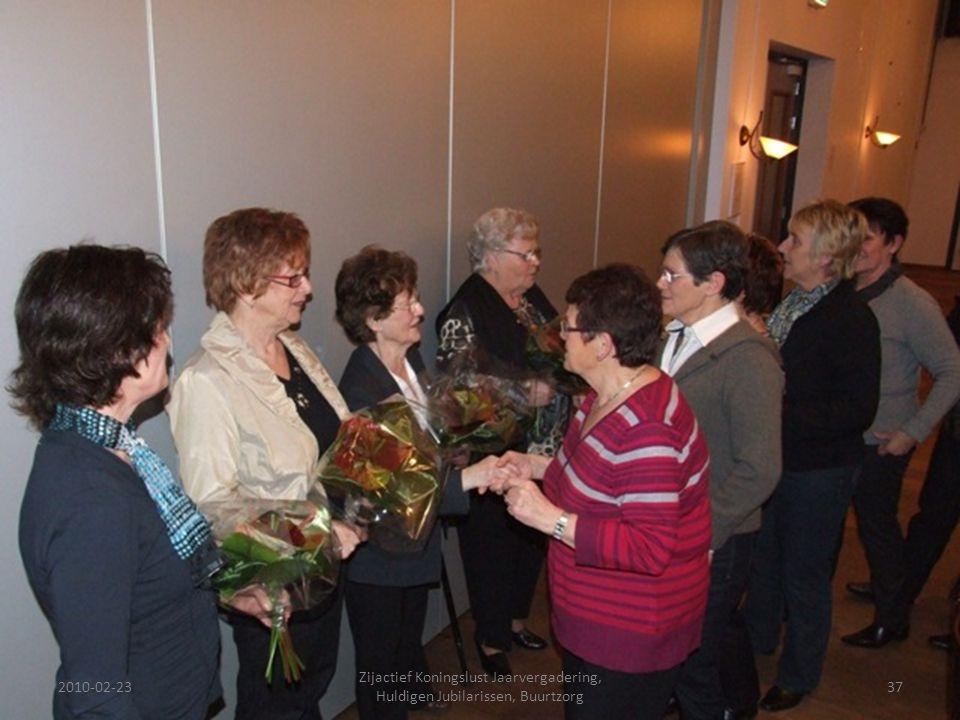 2010-02-2337 Zijactief Koningslust Jaarvergadering, Huldigen Jubilarissen, Buurtzorg