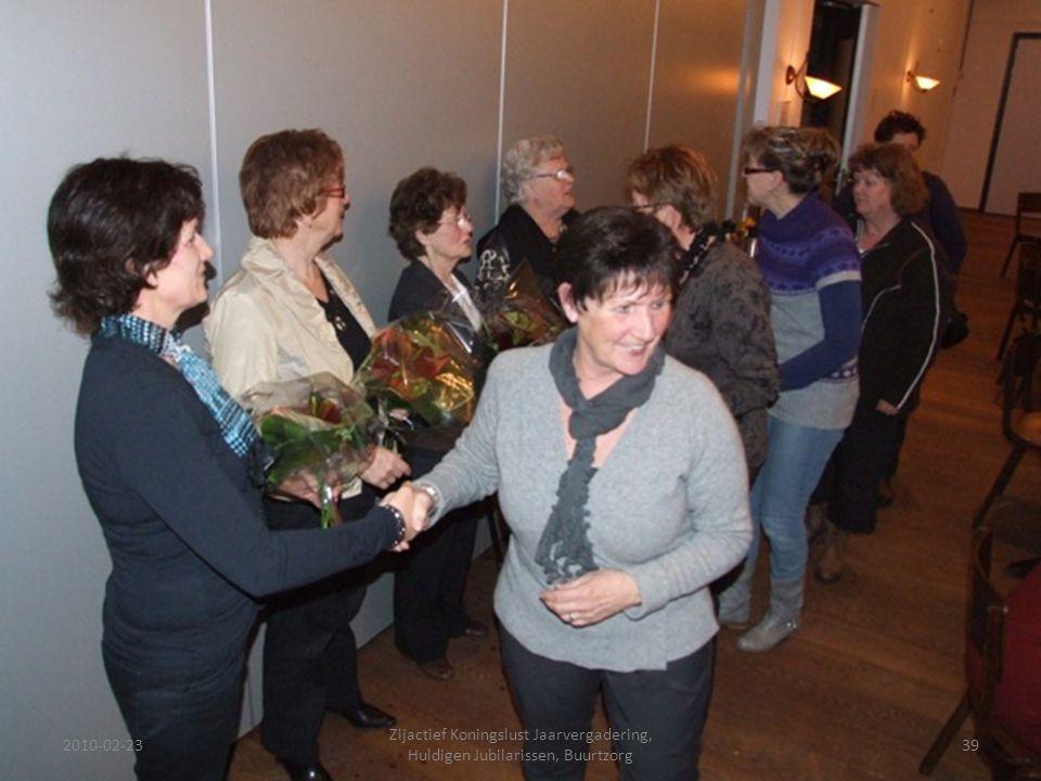 2010-02-2339 Zijactief Koningslust Jaarvergadering, Huldigen Jubilarissen, Buurtzorg