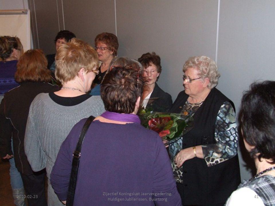 2010-02-2341 Zijactief Koningslust Jaarvergadering, Huldigen Jubilarissen, Buurtzorg