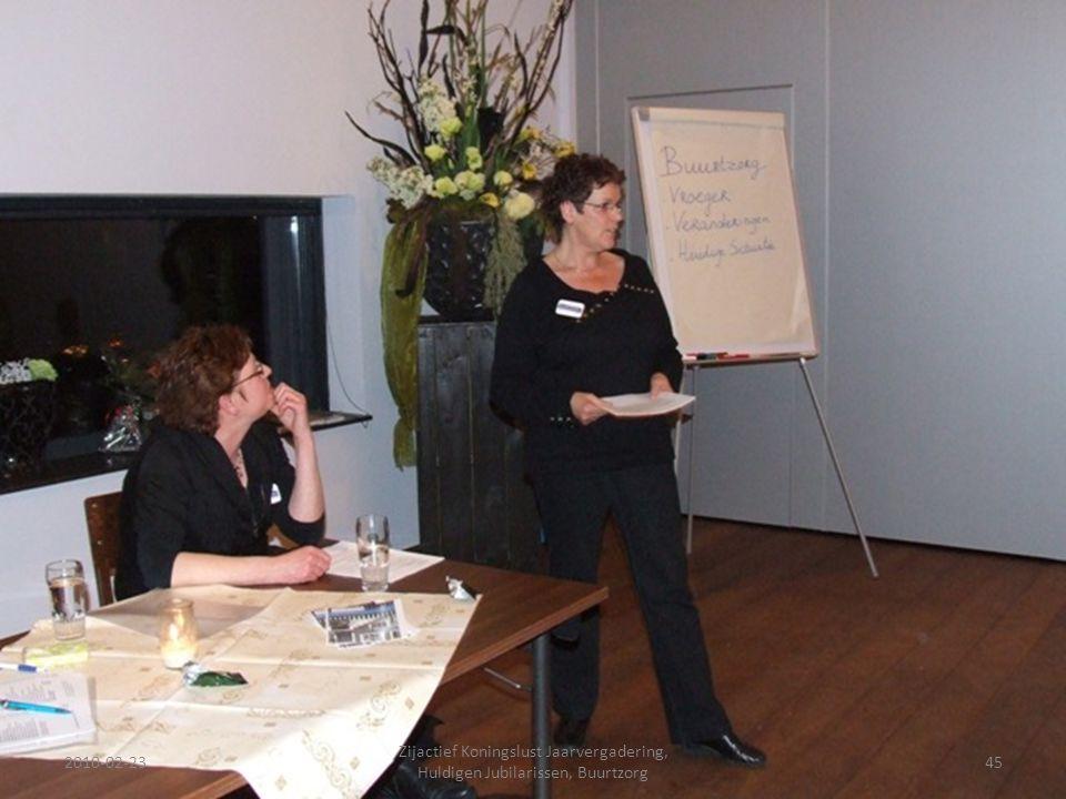 2010-02-2345 Zijactief Koningslust Jaarvergadering, Huldigen Jubilarissen, Buurtzorg