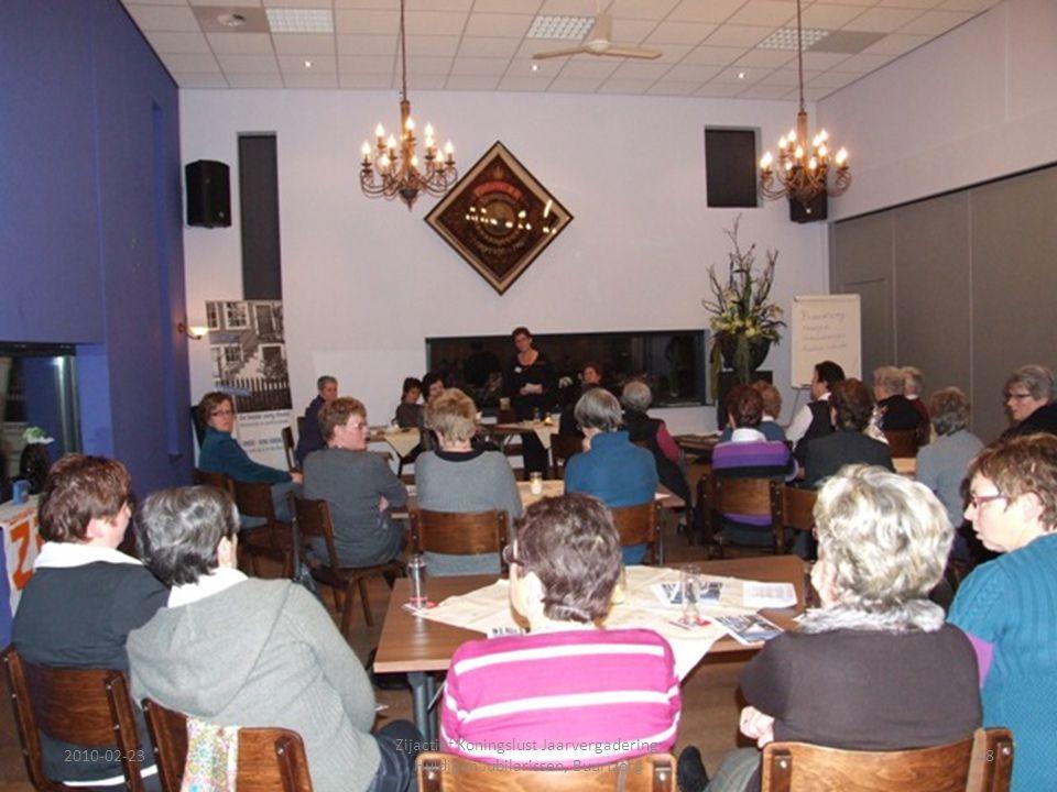 2010-02-2348 Zijactief Koningslust Jaarvergadering, Huldigen Jubilarissen, Buurtzorg