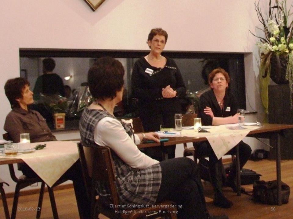 2010-02-2350 Zijactief Koningslust Jaarvergadering, Huldigen Jubilarissen, Buurtzorg