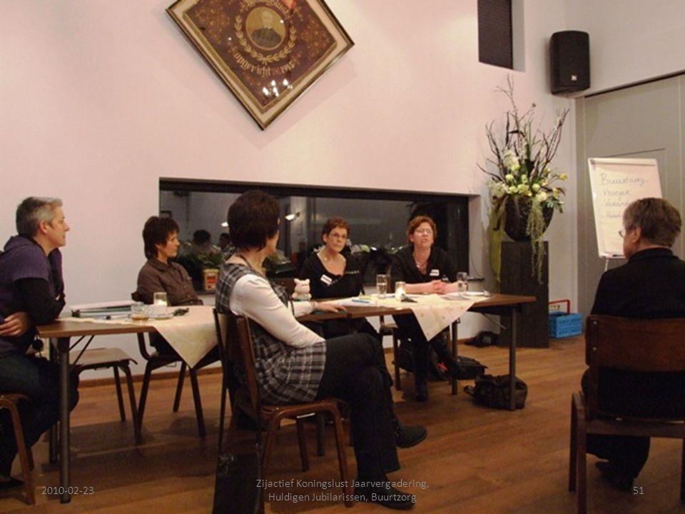 2010-02-2351 Zijactief Koningslust Jaarvergadering, Huldigen Jubilarissen, Buurtzorg