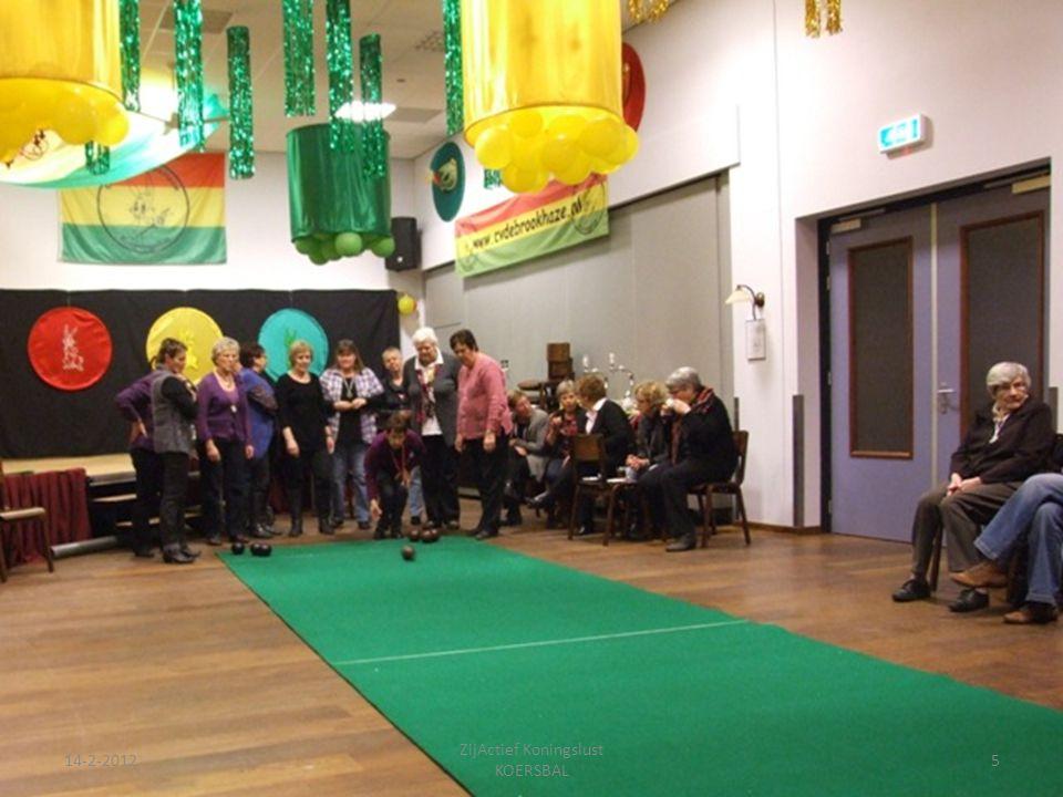 14-2-201226 ZijActief Koningslust KOERSBAL 2 groepen eindigen gelijk en gaan nogmaals strijden om de 1e plaats