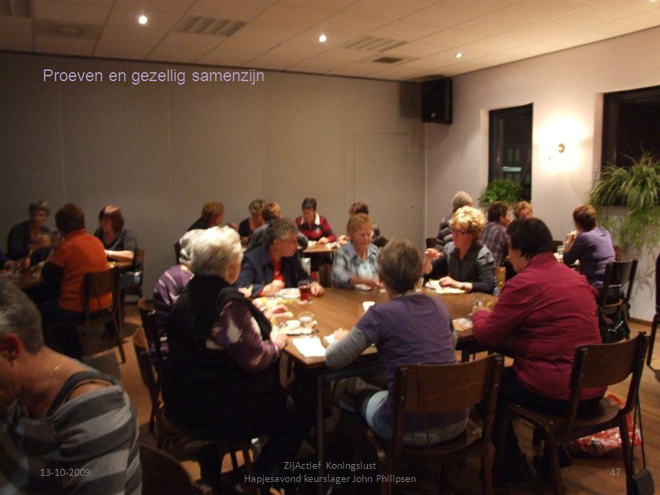 13-10-200947 ZijActief Koningslust Hapjesavond keurslager John Philipsen Proeven en gezellig samenzijn